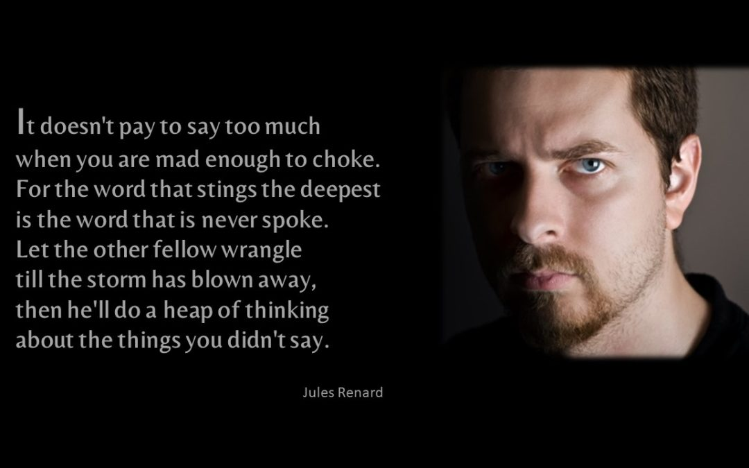 So Mad Words Fail You?  That Might Be a Good Thing.