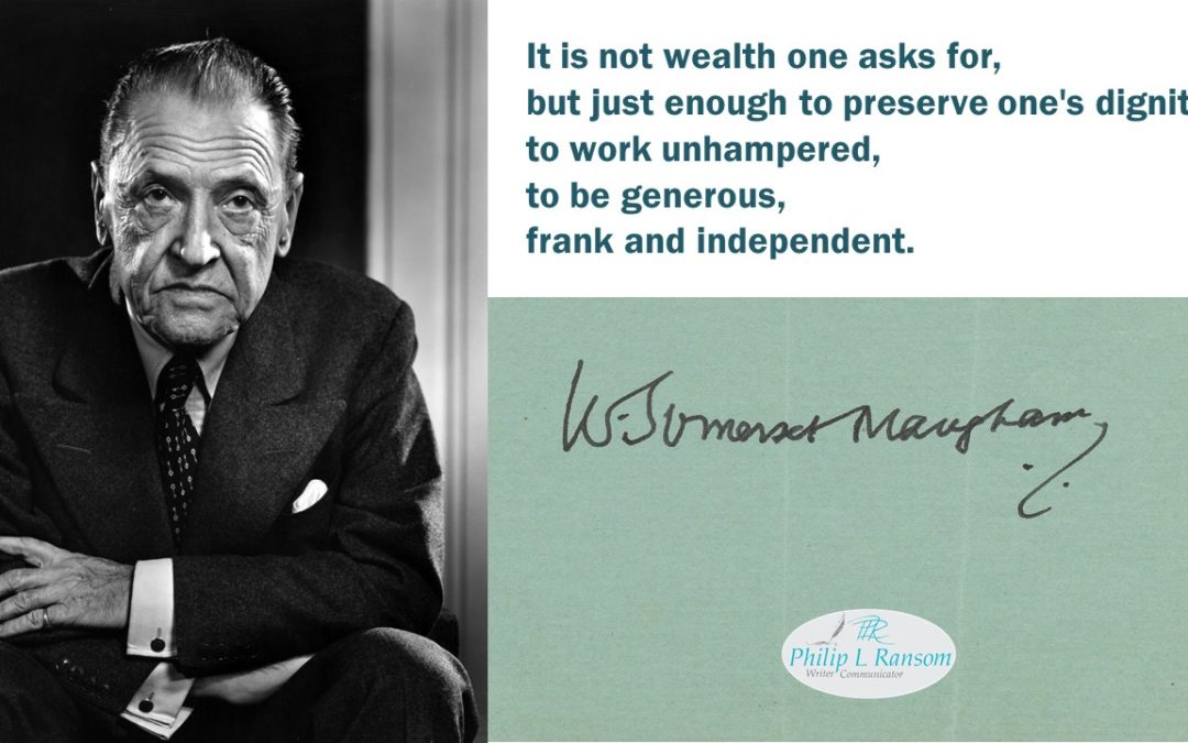 If Not Wealth, What is It?