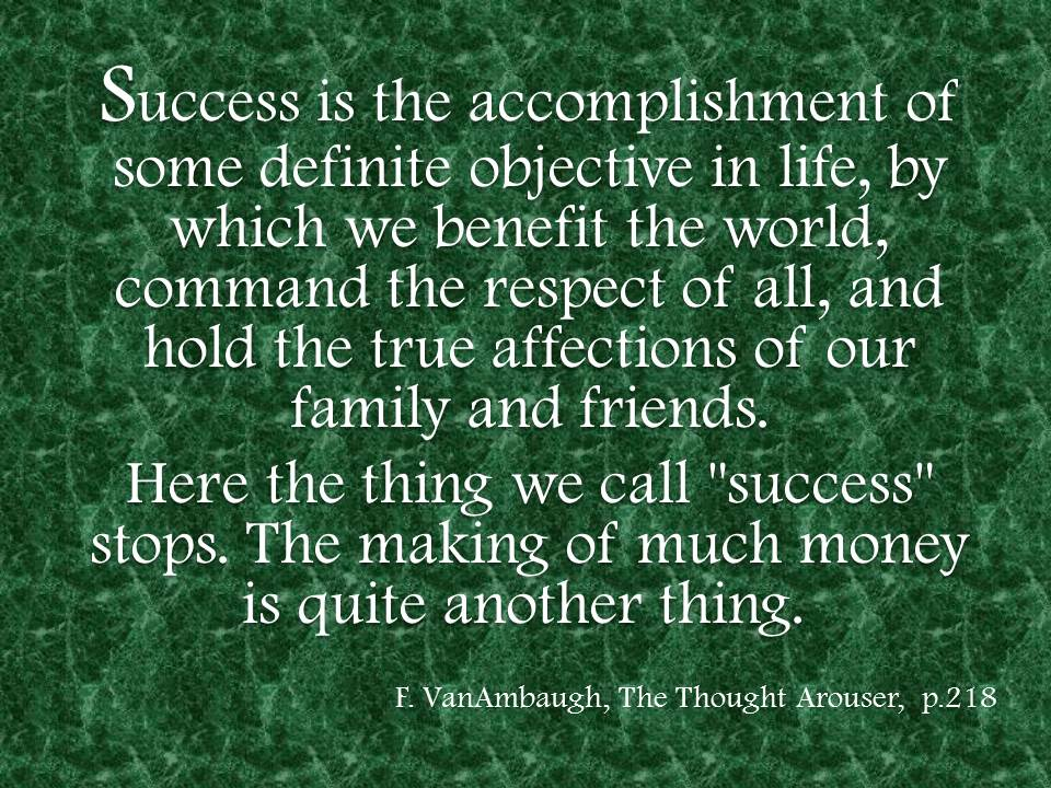 Success - VanAmbaugh