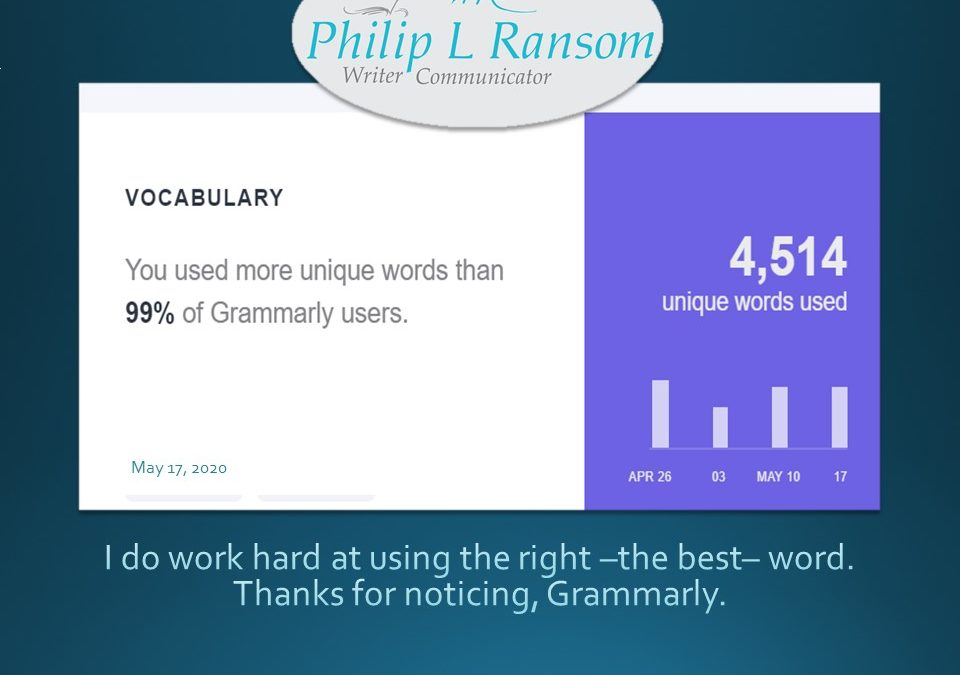 Thanks, Grammarly