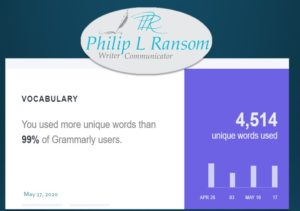Grammarly weekly report.