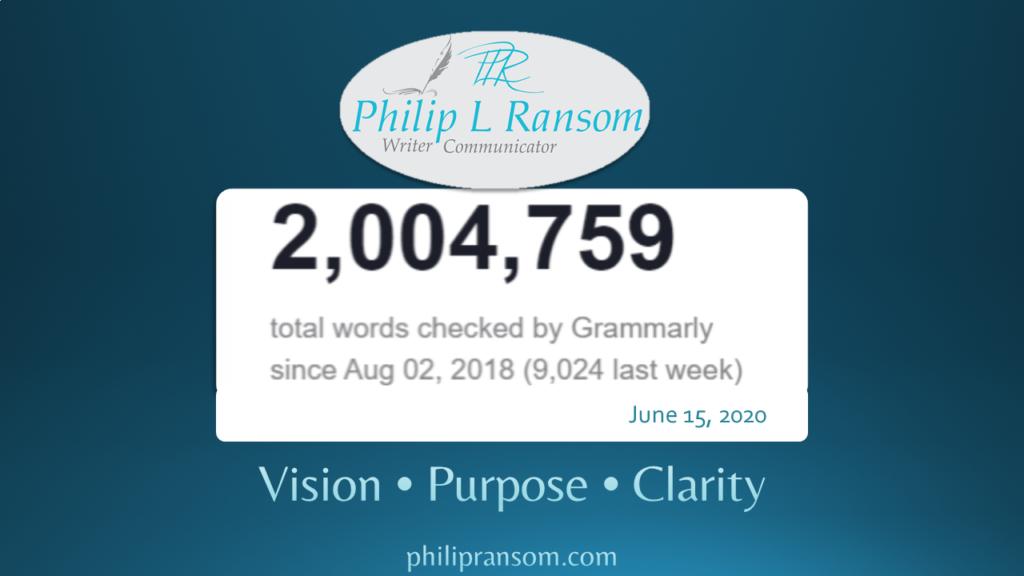 PLRansom two-million work milestone with Grammarly