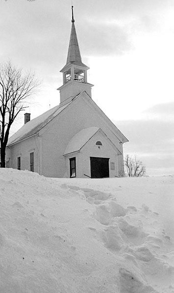 Snowbound Country Church
